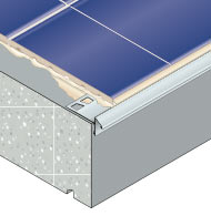 Tiling weather drips and protection of balcony edges