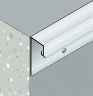 Aluminium weather drips for external walls and balcony edges