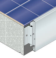 Customized cladding system to protect slab edges