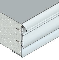 Adjustable cladding system to protect balcony edges