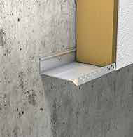 Adjustable profiles for the insulation of facades