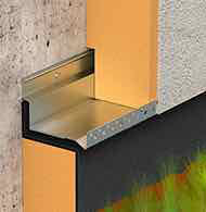 Flashing system and starter track for external thermal insulation
