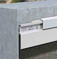 Aluminium flashing system for flat roof tops